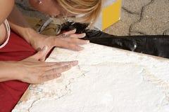 Plaster artist Stock Images