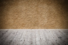 Plaster background wall with concrete floor Royalty Free Stock Images