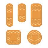 Plaster Bandage Care Set on White Background. Vector. Illustration Royalty Free Stock Images