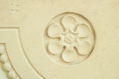 Plaster bas-relief in the form of a flower Stock Photography