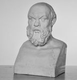 Plaster bust of Socrates Stock Photos