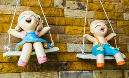 Plaster dolls of children Stock Photography