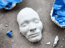 Plaster face mask Royalty Free Stock Photos