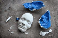 Plaster face mask Stock Photo