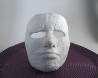 Plaster face mask Stock Photo