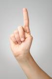 Plaster on female finger Royalty Free Stock Image