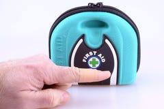 Plaster on Finger Stock Photography