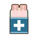 Plaster first aid kit cross. Illustration eps 10 Royalty Free Stock Photos