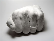 Plaster Fist. Photo of Plaster Fist royalty free stock photos