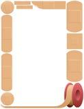 Plaster Frame Adhesive Bandage Royalty Free Stock Photography
