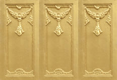Plaster gold Royalty Free Stock Image