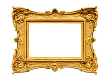 Plaster golden frame Stock Image