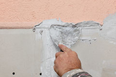 Plaster and gypsum stock photo