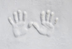 Plaster hands Stock Images
