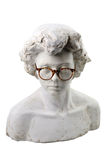 Plaster head with glasses Royalty Free Stock Photo