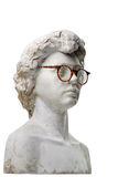 Plaster head with glasses Stock Image