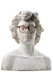 Plaster head with glasses Royalty Free Stock Photography
