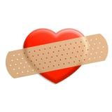 Plaster on heart vector illustration