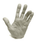 Plaster human hand royalty free stock photography