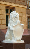 Plaster lion Royalty Free Stock Photo