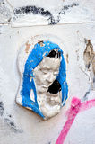 Plaster madonna and child memorial to those killed in Bucharest Stock Image
