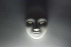 Plaster mask in studio.  Royalty Free Stock Images