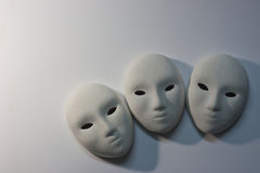 Plaster mask in studio. Art of still life stock image