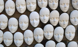 Plaster masks for coloring Royalty Free Stock Images