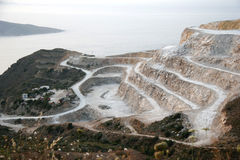 Plaster of Paris Quarry in Northern Crete Royalty Free Stock Photo