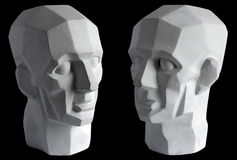 Plaster sculpture of the head Stock Photos