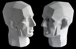 Plaster sculpture of the head Royalty Free Stock Photography