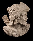 Plaster sculpture, Roman head with helmet Stock Photography