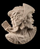 Plaster sculpture, Roman head with helmet Stock Photos