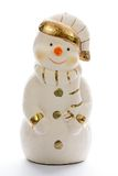 Plaster snowman Stock Photography