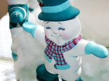 Plaster Snowmen Stock Photos
