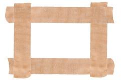 Plaster tape frame. Medical plaster tape frame isolated Stock Images