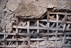 Plaster uncovering battens Royalty Free Stock Images