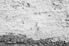 The plaster on the wall. Stock Photos