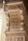 Plaster wall decoration in the Medersa ben Youssef Stock Image