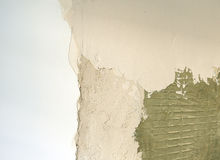 Plaster of the wall with perlite, very fine plaster for finishes Royalty Free Stock Images