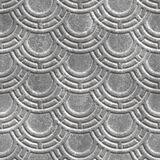 Plaster wall seamless texture with motif pattern, 3d illustration