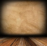 Plaster wall and wood floor Royalty Free Stock Photography