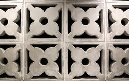 Plaster walls made of floral patterns With ventilation holes stock photos