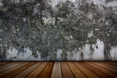 Plaster walls and wood floors. Royalty Free Stock Photography