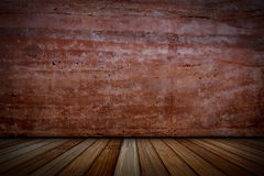 Plaster walls and wood floors. Royalty Free Stock Image