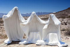 Plaster White Statues as Symbols of the Abandoned Miner's Ghost Royalty Free Stock Image