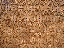 Plaster work. Very old plaster work in the medieval city of Fez, Morocco Royalty Free Stock Photography