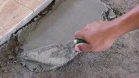 Plastered устанавливает плитки акции видеоматериалы