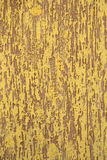Plastered brown and yellow wall Stock Image