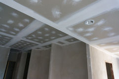 Plastered ceiling Stock Image